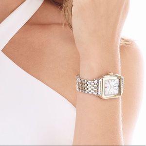 Michele Accessories - •1 DAY SALE• MICHELE Deco Two-Tone Diamond Watch